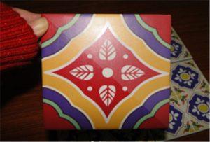 Keramikfliesenmuster auf A2-UV-Drucker WER-D4880UV gedruckt