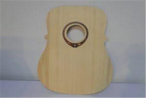 Holzgitarrenprobe aus dem UV-Drucker A2-Größe WER-DD4290UV