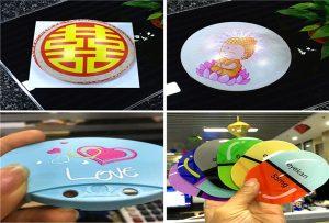 Bedrucken von Plastikmustern aus dem UV-Drucker A190 der Größe A1